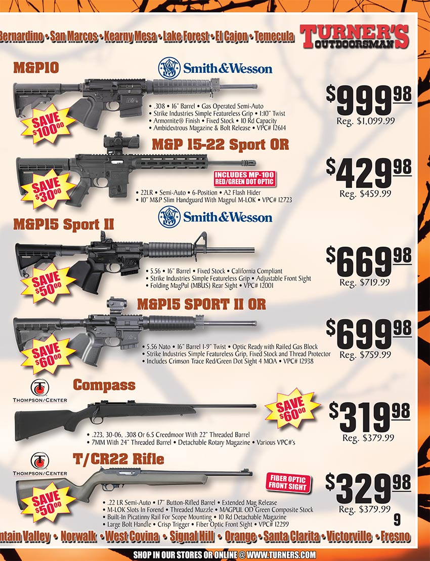 2019 Fall Flyer Page 9 | Turner's Outdoorsman