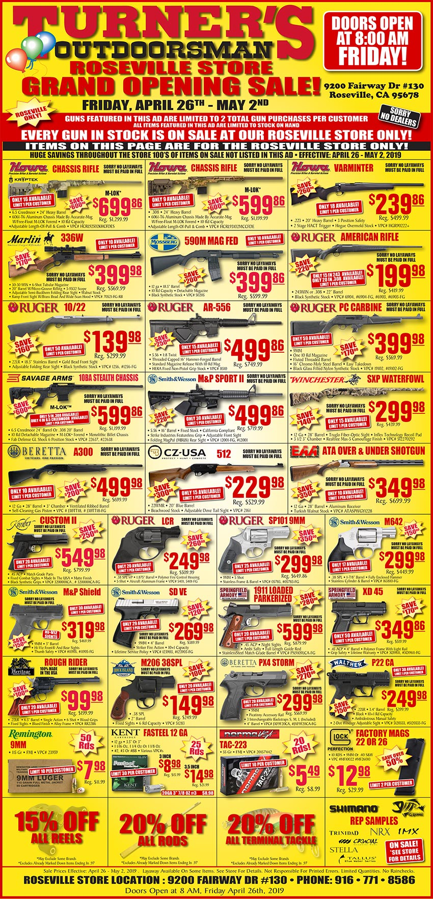 Roseville Grand Opening Sale - Starts Friday, April 26th at 8am!