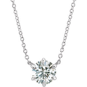 Yadav White Solitaire Necklace
