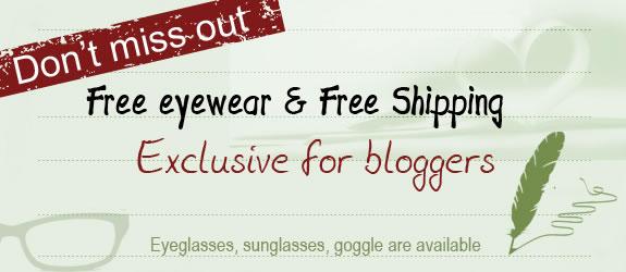 free eyewear for bloggers
