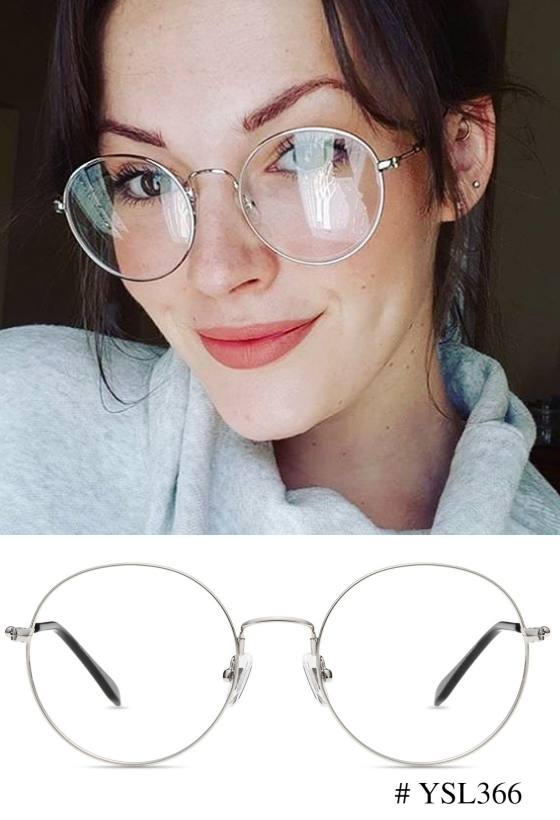 2cf4f54b2c Round glasses are adapt to any occasion such as the  YSL366 by Firmoo