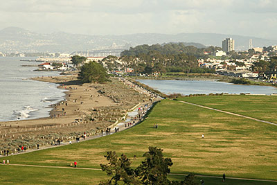 crissy fields picnic venue in the san francisco bay area