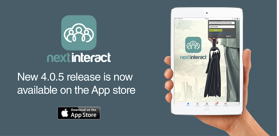 nextINTERACT 4.0.5 is now available on the App Store