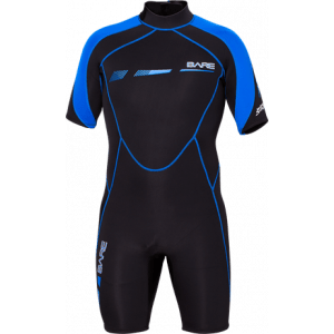 Bare Wetsuit 2MM Sports S-Flex Shorty,Mens, Blue-XXL