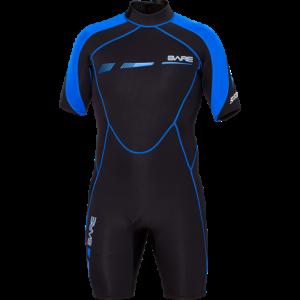 Bare Wetsuit 2MM Sports S-Flex Shorty,Mens, Blue-XS