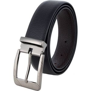Pontos Men Casual Black Genuine Leather Belt PONTOS_002_34W