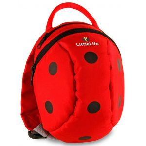LITTLE LIFE,Toddler Animal Daysack with Safety Rein, Ladybird