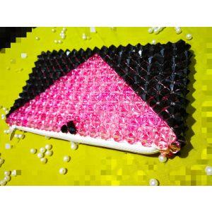 Black Pink Crystal Bag