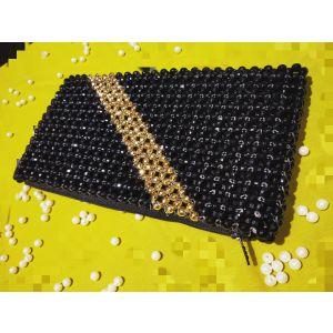 Black Golden Crystal Bag