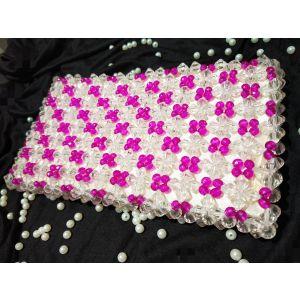 White Pink Crystal Bag