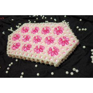 White Pink Pearl Crystal Bag