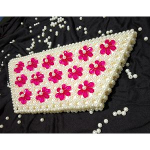 White Pink Pearl Crystal Bag - SHOP-PW 009