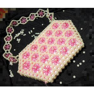 White Pink Pearl Crystal Bag-SHOP-PWH-006