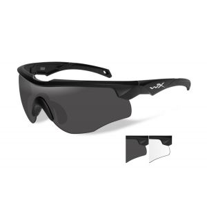 WILEY X , ROGUE GREY/CLEAR / MATTE BLACK FRAME