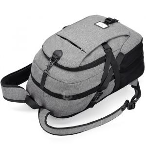 Casual Durable Canvas Backpack with USB Port