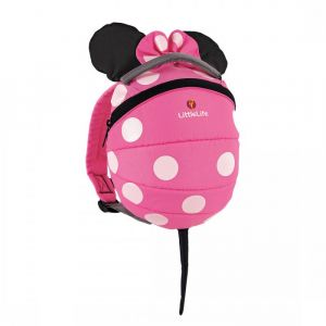 LITTLE LIFE,Disney Toddler Backpack, Pink, Minnie..
