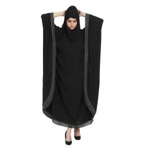Imported Crepe Abaya-Black