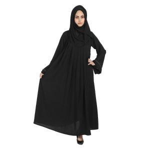 Black Imported Crepe Abaya