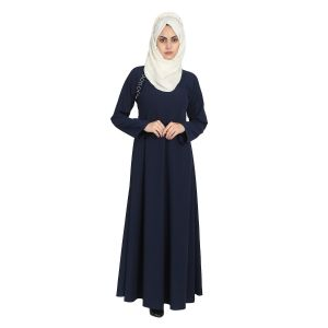 Imported Twills Abaya - Navy Blue
