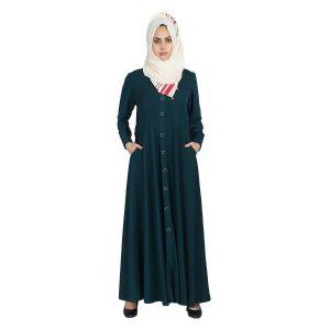 Imported Twills Abaya - Sea Green