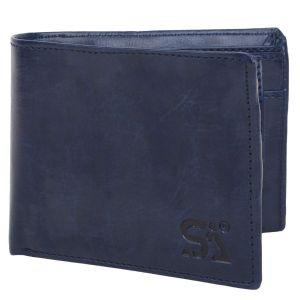 Blue Men's PU Leather Wallet AI-87