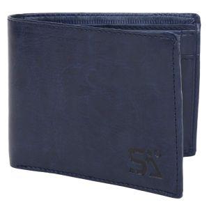 Blue Men's PU Leather Wallet AI-91