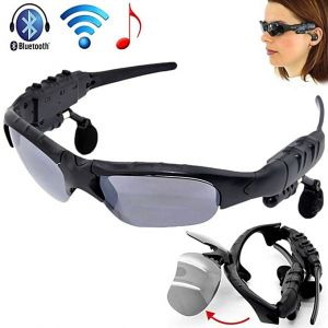 Wireless Stereo Sunglasses MP3 Player Black