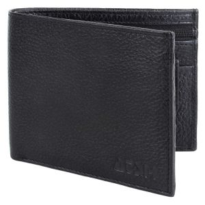 Men's Genuine Leather Wallet TAN AI-14 (Brown) (Black)