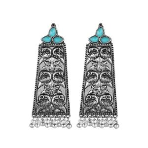 Mali Fionna Present Silver oxidised Black Metal earring For women/girls