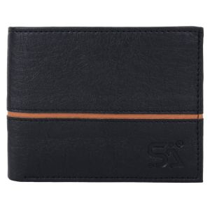 Men's PU Leather Wallet Black AI-71