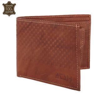 Men's Genuine Leather Wallet TAN AI-18