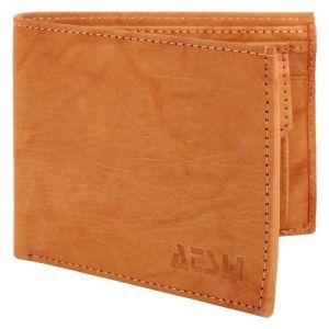 Men's Genuine Leather Wallet TAN AI-11 (TAN)
