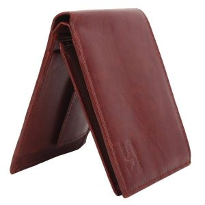 Brown Men's PU Leather Wallet AI-86