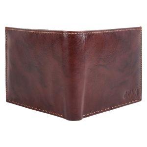 ATSH Men's Genuine Leather Wallet Brown AI-16 (Brown)