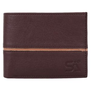 Men's PU Leather Wallet Brown AI-72