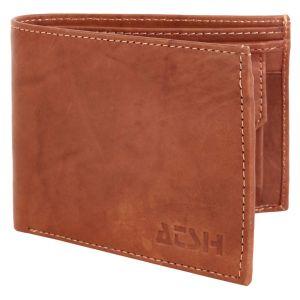 Men's Genuine Leather Wallet TAN AI-13 (Brown)
