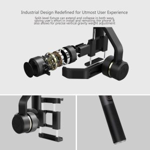 FeiyuTech SPG Plus 3-Axis Dual Handle Gimbal, with Five Screw Ports for Flashes Tripods Phone Clips