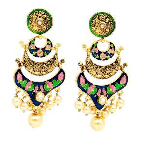 Valentine -Mali Fionna Beautiful Pair Of Meenakari Valentine -Mali Fionna Earrings Made For Her