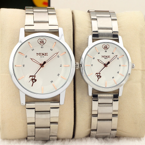 Analogue Dial Stainless Steel Couple Wrist Watches