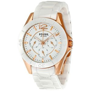 White Ceramic Multi-Function Ladies Watch