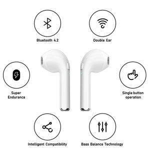 In-Ear Headset With Charging Dock White