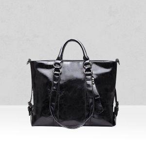 Shiny Black Shoulder Quality Handbags