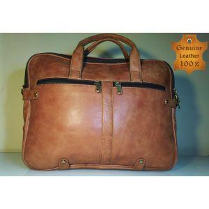 Genuine LEATHER  Laptop Messenger Bag for Men-RUST-SL-02