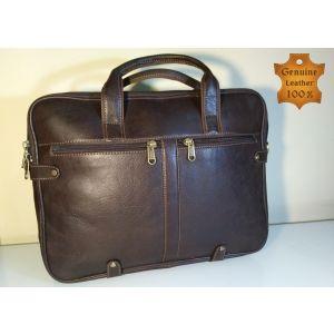Genuine LEATHER  Laptop Messenger Bag for Men-BRO-CL-03
