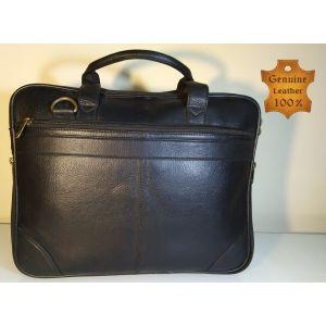 Genuine LEATHER  Laptop Messenger Bag for Men-BLK-CL-01