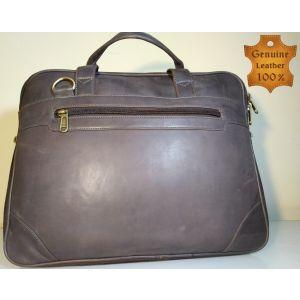 Genuine LEATHER  Laptop Messenger Bag for Men-RUST-SL-05