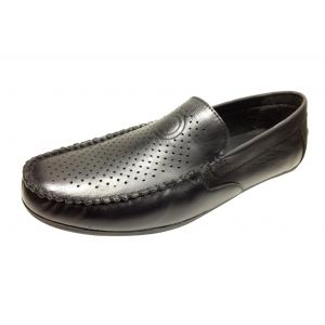 KOXA, Leather Casual/Loafer Shoes for Men Black