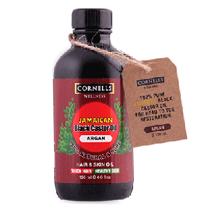 COSMO CORNELLS WELLNESS JAMAICAN BLACK CASTOR OIL ARGAN 120ML  (COSMO SERIES)