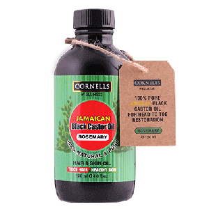 COSMO CORNELLS WELLNESS JAMAICAN BLACK CASTOR OIL ROSEMARY 120ML  (COSMO SERIES)