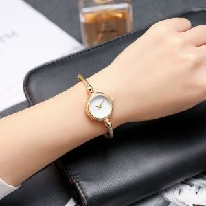 Golden Metal  Roman Dial Bracelet Wrist Watch